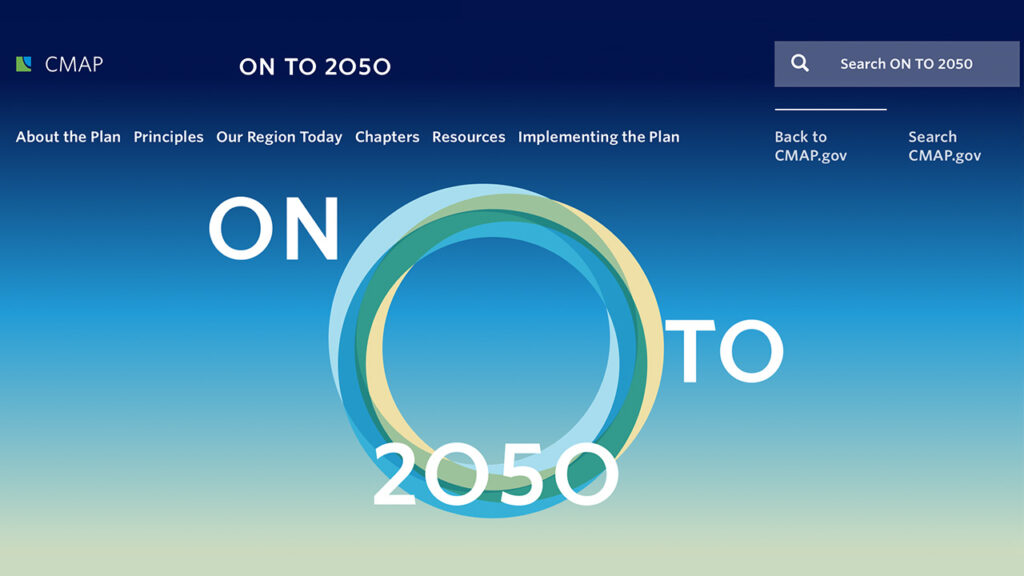CMAPs ON TO 2050 website