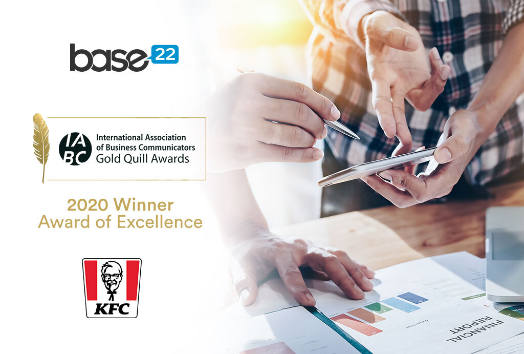 Base22 wins Gold Quill Award